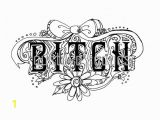Free Swear Word Coloring Pages This Swear Word Coloring Book is A Digital Instant