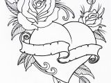 Free Tattoo Coloring Pages for Adults Roseheart Outline 1 by Vikingtattooviantart On