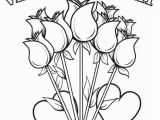 Free Valentine Coloring Pages Printable Happy Valentine S Day Flowers Coloring Page