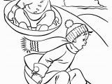 Free Winter Coloring Pages for Kids Sledding Fun Free Kids Printable Christmas Coloring Pages