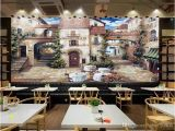 French Cafe Wall Murals 3d Room Wallpaper Custom Mural European Cafe town Street View