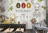 French Cafe Wall Murals 3d Stereo Custom Graffiti Mural Delicacy Leisure Tea Shop Bakery