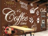 French Cafe Wall Murals Custom Any Size European Style Retro Hand Painted Poster Mural
