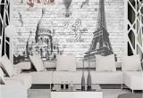 French Country Wallpaper Murals 3 D European Style French Paris Street View Mural Bar