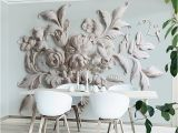 French Country Wallpaper Murals Aesthetic European Style Flower Relief Tv Background Wall Painting