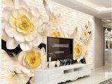 French Country Wallpaper Murals Custom 3d Wall Murals Wallpaper 3d Stereoscopic Relief Beige Flowers