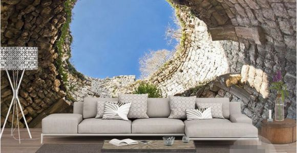 French Country Wallpaper Murals the Hole Wall Mural Wallpaper 3 D Sitting Room the Bedroom Tv