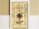 French Door Wall Mural Marauders Map Peel & Stick Mural for Double Door or Wall 2
