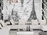 French Wallpaper Murals 3 D European Style French Paris Street View Mural Bar