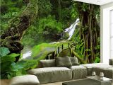 French Wallpaper Murals Custom Wallpaper Murals 3d Hd Nature Green forest Trees Rocks