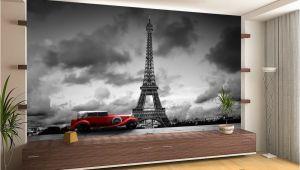 French Wallpaper Murals France Paris Eiffel tower Retro Car Wall Mural Wallpaper Giant