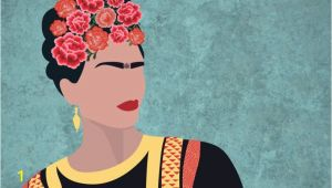 Frida Kahlo Wall Mural Frida Kahlo Portrait Floral Wallpaper Mural