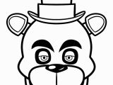 Fright Night at Freddy S Coloring Pages Print Fnaf Freddy Five Nights at Freddys Face Coloring