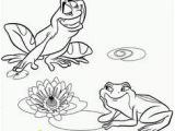 Frog and Lily Pad Coloring Pages Two Frogs Coloring Page Early Childhood Education