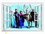 Frozen Full Wall Mural Buy Home Frozen Queen Window View Wall Sticker Cartoon Mural