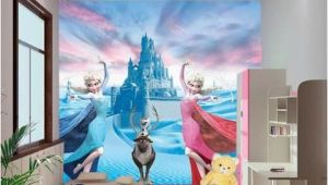 Frozen Wall Mural Wallpaper Custom 3d Elsa Frozen Cartoon Wallpaper for Walls Kids Room
