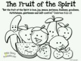 Fruit Of the Spirit Goodness Coloring Page Fruit Of the Spirit Coloring Page