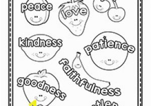 Fruit Of the Spirit Goodness Coloring Page Fruit Of the Spirit Printables Christian Preschool