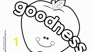 Fruit Of the Spirit Goodness Coloring Page Fruits Of the Spirit Bible Coloring Pages