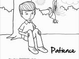 Fruit Of the Spirit Patience Coloring Page Coloring Books