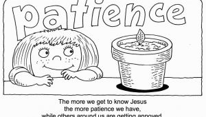 Fruit Of the Spirit Patience Coloring Page the Fruit Of the Spirit is Longsuffering Patience