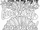 Fuck This Shit Coloring Page You Re My Ray Of Fucking Sunshine Free Coloring Page Thiago