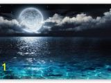 Full Moon Wall Murals Moon and Ocean Hd Desktop Wallpaper High Definition