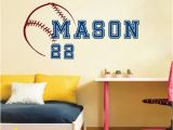 Full Wall Decal Mural Stickers Baseball & Name & Number Wall Sticker Vinyl Decal