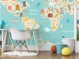 Full Wall Map Mural Custom Children Wallpaper Cartoon World Map Murals for the Living Room Children S Room Wall Wallpaper Pvc Free Wallpapers Backgrounds Free Wallpapers