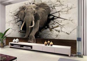 Full Wall Mural Wallpaper Custom 3d Elephant Wall Mural Personalized Giant Wallpaper