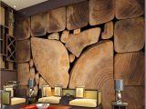 Full Wall Mural Wallpaper Custom Wall Murals Woods Grain Growth Rings European Retro Painting