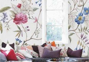 Full Wall Mural Wallpaper Floral Wallpaper Old Painting Plants Mural Self Adhesive