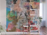 Full Wall Murals Cheap E Hundred Percent Wall Mural by Pinkpankpunk