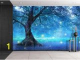 Full Wall Murals forest Fairy Tree In Mystic forest Photo Wallpaper Wall Mural