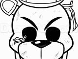 Funtime Foxy Coloring Pages Freddy Coloring Pages Golden Sketch Coloring Page