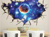 Galaxy Mural Diy Creative Space Galaxy Stars Planets Universe 3d Wall Mural