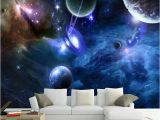 Galaxy Mural Diy Custom 3d Murals Galaxy Fluorescent Wallpapers Moisture Home