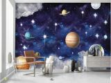 Galaxy Mural Diy Custom 3d Wallpaper Murals Hand Painted Universe Galaxy Planet