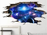 Galaxy Mural Diy Wall Stickers Cosmic Galaxy Wall Decals for Kids Room Baby Bedroom