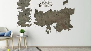 Game Of Thrones Map Wall Mural Game Thrones Map Wall Decal Westeros and Essos Game Of Thrones Gift Vinyl Poster Prints Game Of Thrones Art Map Of Westeros Printable Got
