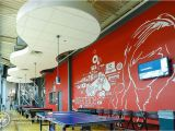 Game Room Wall Murals Artistic Wall Mural for A Student Center