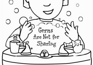 Game Shakers Coloring Pages Free Printable Coloring Page to Teach Kids About Hygiene Germs are