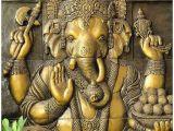 Ganesha Mural Wall Art An Image Mural Ganesh Painting Digital Reprint Painting