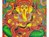 Ganesha Mural Wall Art Mural Painting is Intricately Hand Painted and Will