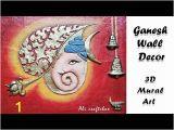 Ganesha Mural Wall Art Videos Matching Ganesha Wall Decor with Ceramic Cone Work