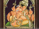 Ganesha Mural Wall Art Vinayagar Tanjore Painting