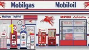 Garage Scene Wall Murals Details About Mobil Gas Station Scene Pegasus Wall Mural Sign Banner Garage Art 10 X 20