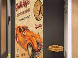 Garage Wall Mural Wallpaper Amazon Door Wall Sticker Retro Vintage Garage