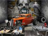 Garage Wall Mural Wallpaper Garage Car Wallpaper Wall Giftwatches Co