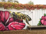 Garden Murals for Outdoors I Spent My Sunday Morning Painting A Bee On the Fence Of A Local